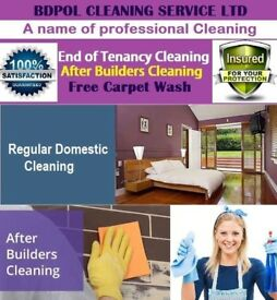 Professional End of Tenancy Cleaning - Regular Domestic Cleaning - Free Carpet Deep Wash offer