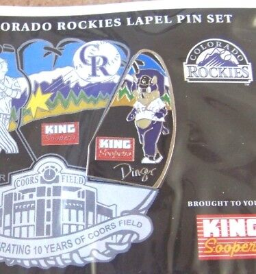 2004 Colorado Rockies Puzzle Pin  3  Dinger Mascot  Right  King Soopers