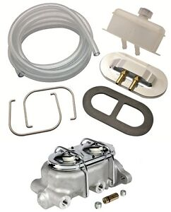 MASTER CYLINDER REMOTE FILL RESERVOIR CAP KIT ALUMINUM MASTER CHEVY FORD