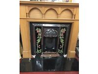 Final reduction complete fire surround cast insert hearth