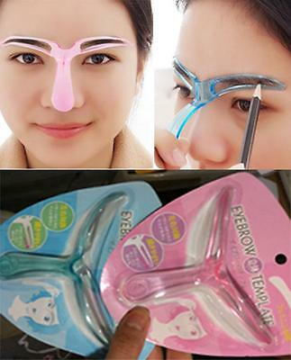 Eyebrow Grooming Stencil Kit Template Women Makeup Shaping Shaper Tool DIY  (Stencil Kit)