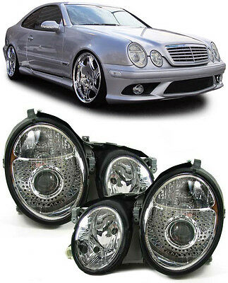 Mercedes CLK W208 97-02  SCHEINWERFER FACELIFT OPTIK CHROM