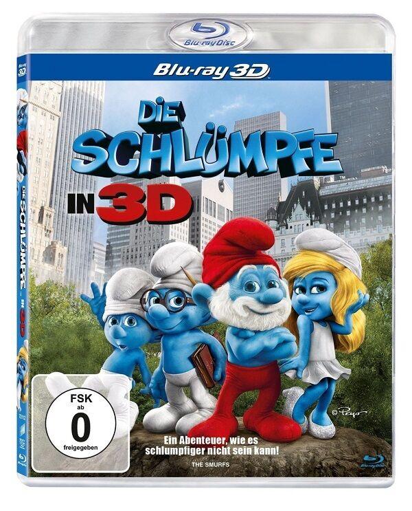 3D Blu-ray * Die Schlümpfe 1 * (Teil 1, der Film) * NEU OVP
