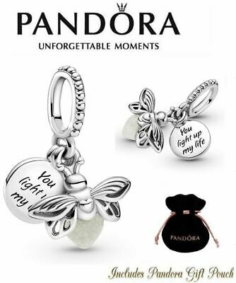 New Authentic Pandora S925 ALE Glow in the Dark Firefly Dangle Charm 799352C01