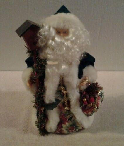 "Old World 12"" tall SANTA CLAUS tree topper or tabletop Santa - MINT"