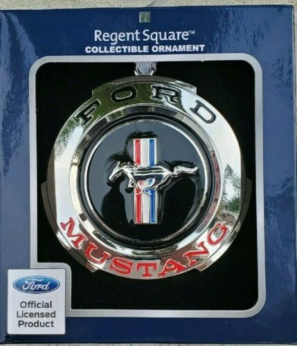 Ford Mustang Metal Christmas Ornament