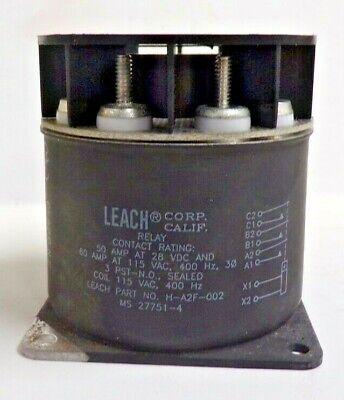 Leach Corp. Relay Mfr58657-9904 H-a2f-002 115 Vac Serial- 00840