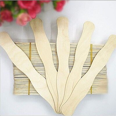 100 Natural Wavy Wood Craft Sticks DIY Wedding Fans for sale  China