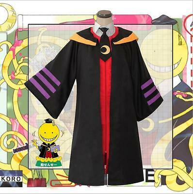 Assassination Classroom Koro-sensei Black Halloween Whole Set Cosplay Costume X0 - Sensei Halloween Costume