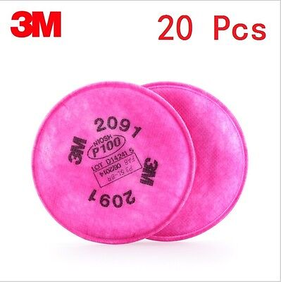 20pcs10 Packs 3m 2091 Particulate Filter P100 For 6000 7000 Series Respirator