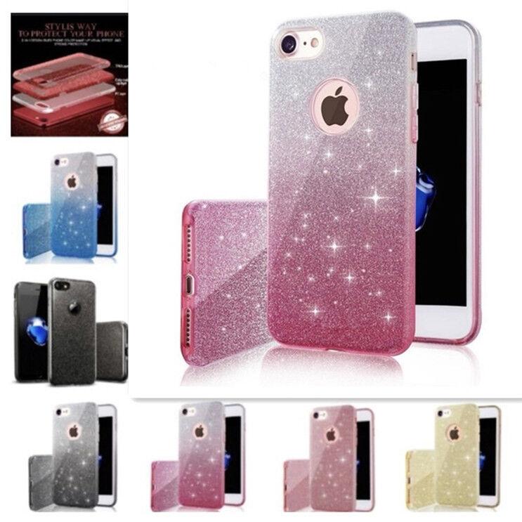 Bling Glitter Hybrid Rubber Protective Hard Case Cover for i