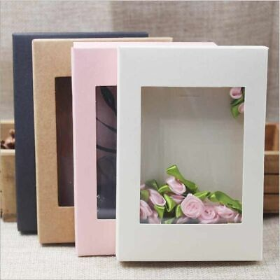 Kraft Box Paper Window Jewelryflowercake Packaging Gift Craft Cardboard Box