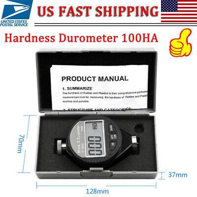 Digital Shore A Hardness Durometer 100ha Tester Tire Rubber Meter Lcd Display Us