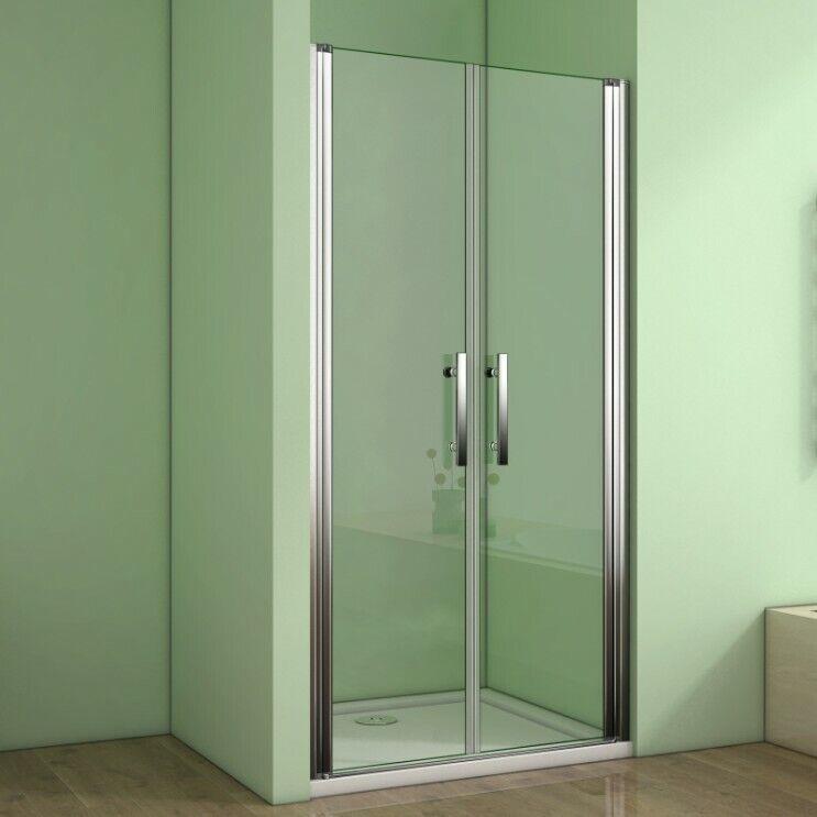 Duschabtrennung Duschkabine Nischentür Pendeltür Duschtür Dusche 6mm Nano Glas