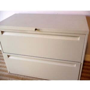 Locking 2 Drawer Lateral File Cabinet with Key, Delivered