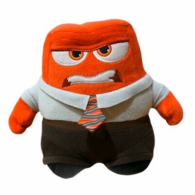 Disney Pixar Inside Out ANGER Small Plush Red Stuffed Toy 6""