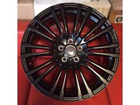 """18"""" BRAND NEW FORD RS 2 BLK STYLE ALLOY WHEELS TO FIT VOLVO JAGUAR FORD RENAULT"""