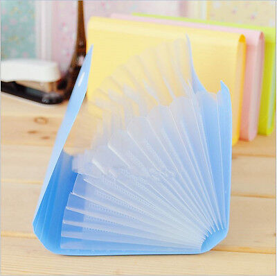 File Bag Pouch Bills Receipts Folder Card Holder Organizer Fastener Good Hv