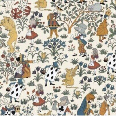 House Of Hackney Designer Alice In Wonderland Cream 2M Roll Of Wallpaper