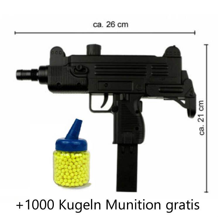 Softair Pistole Waffe Soft Gun Uzi M35 0 5 Joule Ab14 Jahre Gewehr Mit Magazin Ebay