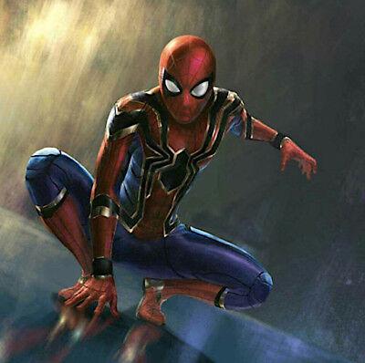 Spiderman Gold Karnevalskostüme Animation Herren Cosplay Kleid Kostüm Spm006 E