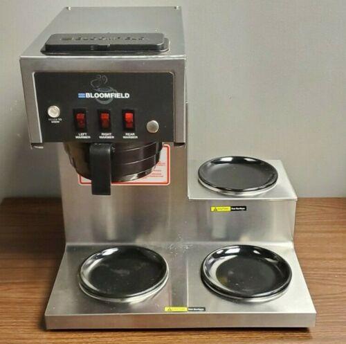 Bloomfield Model 8571 Drip Coffee Maker Brewer W/ Three Warmers 1800 Watts