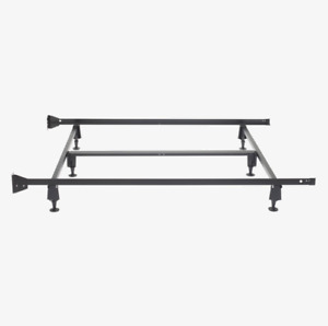 Free Metal Queen Bed Frame on Wheels (with centre support)