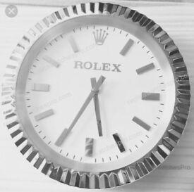 Rolex fluted rigid bezel wall clock Limited Edition