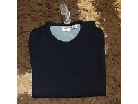 Levi's men's crew neck round neck navy smart casual sweater jumper