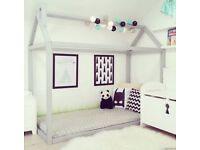 Pink house bed frame