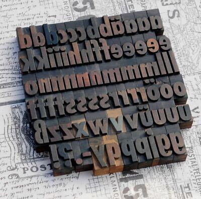 A-z Alphabet 1.42 Letterpress Wooden Printing Blocks Wood Type Vintage Printer.