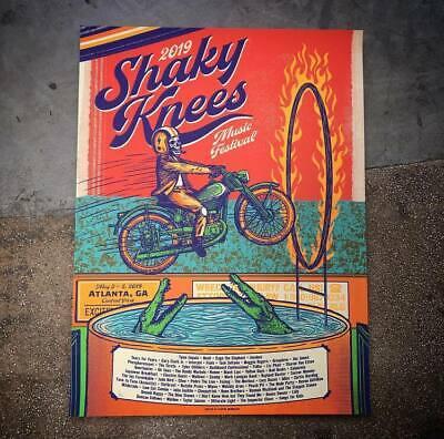 Shaky Knees Fest Poster 5/3-5/2019 Atlanta - GA Signed Artist Ed. #/40