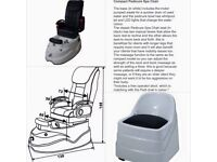 Compact Pedicure Spa Chair with massage function