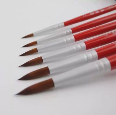 Watercolor Paint Brushes (XDT#378 Round Tip Mop Artist Paint Art Brush PremiumNylon 6pc Acrylic)