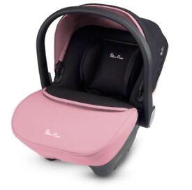 Silver cross pink car seat used twice perfect condition