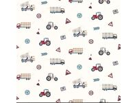 2 rolls of Laura Ashley Trucks and Tractors wallpaper