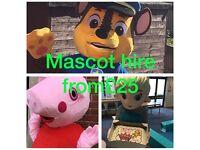 Bouncy castle & mascot