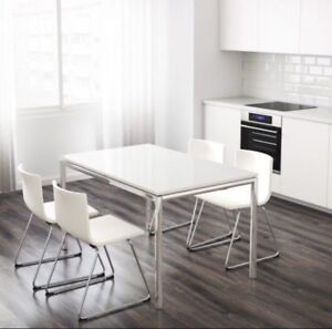 White Ikea dining table