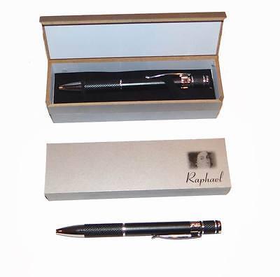 Heavy Duty BLACK Metal Pen Matte Finish & Textured Grip W/ Pen Box FREE SHIPPING