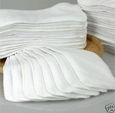- NEW 2,3 LAYERS MICROFIBER CLOTH INSERTS LINER FOR CLOTH DIAPER WASHABLE REUSABLE