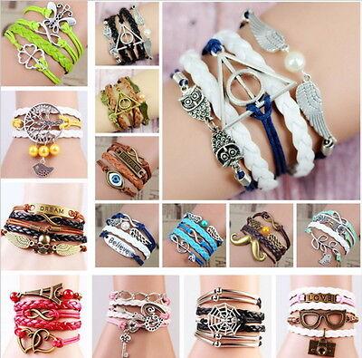 Damen Herren Armband Armbänder Vintage Armkette Wickelarmband Geschenk NEU