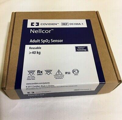 Nellcor Ds-100a-1 Adult Finger Clip Oximax Spo2 Sensor 9 Pins Genuine Ds100a-1