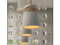 Concrete Bell Shaped Pendant Light - 3 available