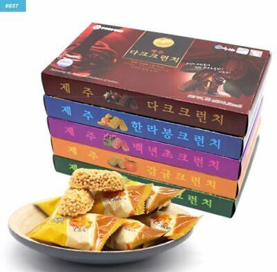 Jeju Crunch Chocolate 50g x 10 Box Hallabong Tangerine Greentea Cactus Crunky Da