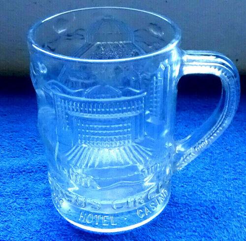 Las Vegas Circus Circus Vintage Heavy Glass Beer Stein