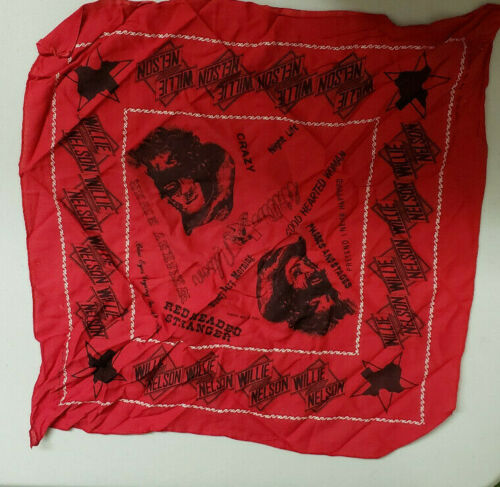 VTG 70s 1977 Willie Nelson Concert Tour Country Rock Bandana