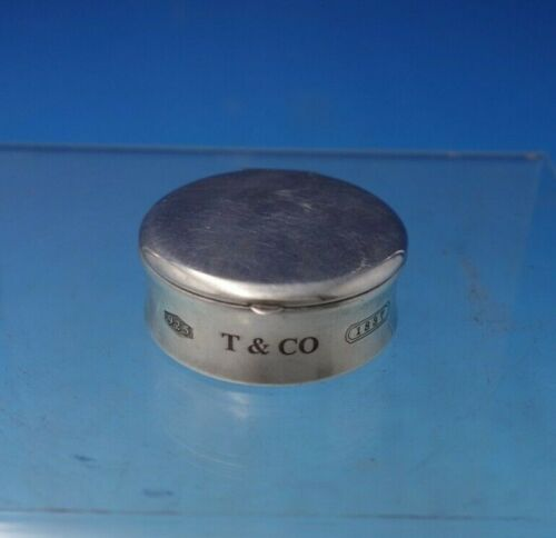 Tiffany and Co .925 Silver Pill Box #1837 Made 2001 Spain .8 ozt.  (#5384)