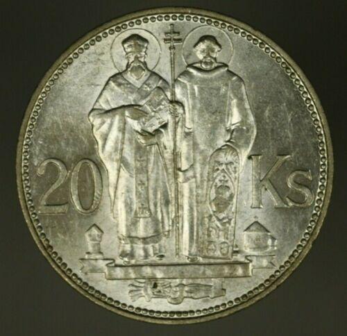 Slovakia Silver 20 Korun 1941  BU  A1499