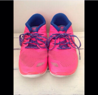 Fluoro pink and blue Nikes only $50 Carrara Gold Coast City Preview