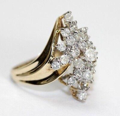 10k Ladies Diamond Ring Fine Rings .25 Tdw